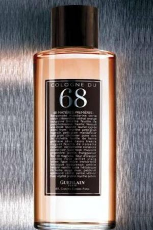 Eau de Cologne du 68 by Guerlain is a powdery, sweet Citrus Aromatic fragrance with 68 different notes - here are some of the main ones: bergamot, citrus notes, mandarin orange, petitgrain, sweet orange, orange flower, freesia, plumeria, jasmine, iris, violet leaf, rose, ylang-ylang, lily-of-the-valley, linden, sage, green notes and rosemary. - Fragratica