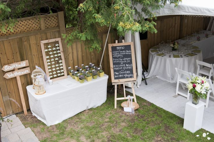 Small simple backyard wedding idea