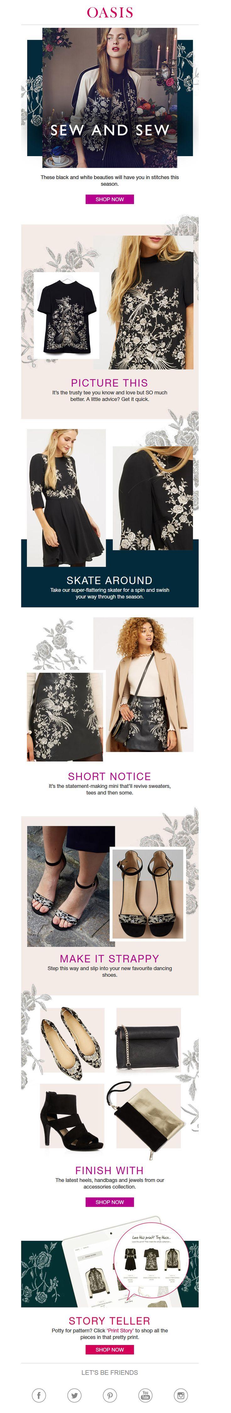 #web #website #weblayout #email #newsletter #edm #fall #fashion #sew