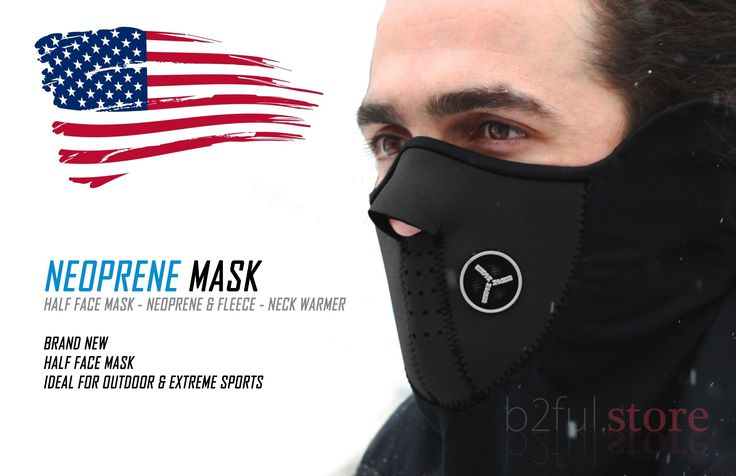 """B2Ful Store - NEW Black - Half Face Mask - Motorcycle - Ski - Neck Warmer. HALF FACE MASK - NEOPRENE & FLEECE - NECK WARMER BRAND NEW - HALF FACE MASK IDEAL FOR OUTDOOR & EXTREME SPORTS. 100% Brand New. Weight: 3oz Color: Black Length: About 20"""" Height: About 9.5"""" Material: Neoprene and thermal fleece Flexible and Soft. Very warm and lightweight to wear Perfect protection against cold, snow, wind and sun in winter A cutout for nose breathing New ventilation system will keep you breathing..."""