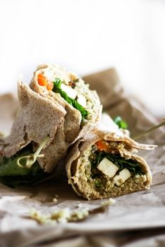 Teriyaki Tofu and Quinoa Wrap Recipe  #healthy #vegan