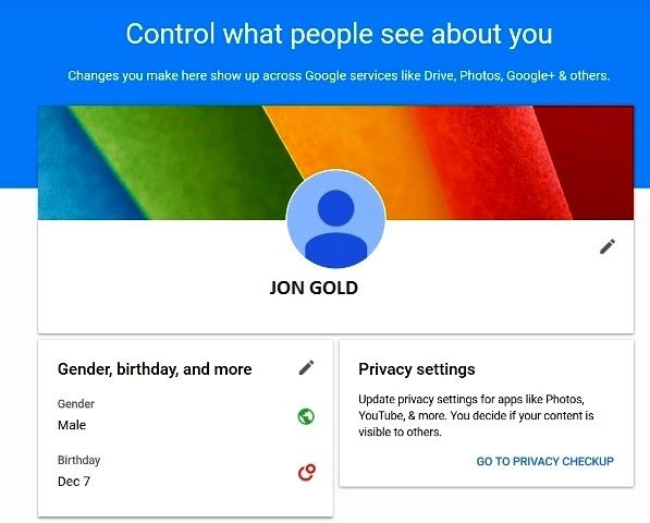 """Its a new Google's Tool """"About Me"""" For individual"""
