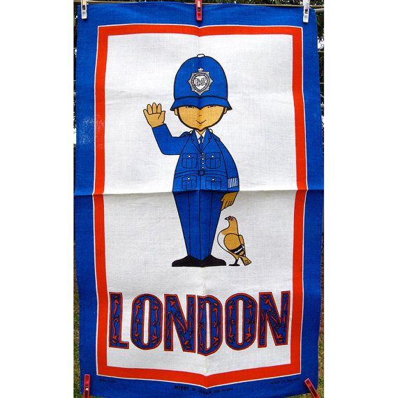 Vintage London Bobby Policeman Souvenir Tea by BessieAndMaive