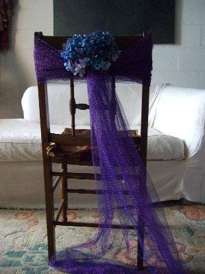 Shows You How To Decorate Chairs Backs With Tulle Here