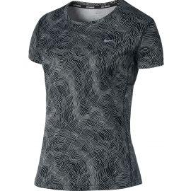 Nike DRY MILER TOP SS PRNT - Dámské sportovní tričko