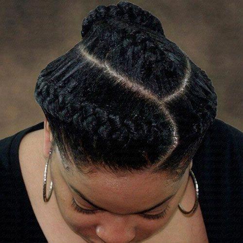 3 Goddess Braids Updo #GoddessBraids #goddesslocs #braids #braidstyles #hairstyl…   – braided Updos