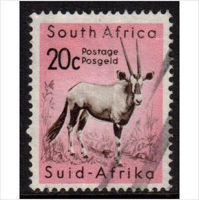 South Africa Scott 251 - SG195, 1961 Gemsbok 20c used stamps sur le France de eBid