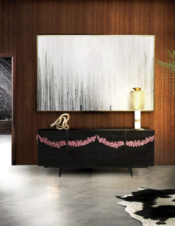 The Majestic Sideboard ia a highly stylish and unique piece of furniture that lends an attractive presence to any room | www.bocadolobo.com #bocadolobo #luxuryfurniture #exclusivedesign #interiodesign #designideas #sideboarddesign #contemporarydiningroom #majesticcafe #oportocity