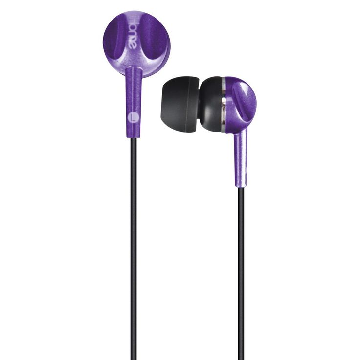 iHome Colortune Noise Isolating Earbuds - Purple