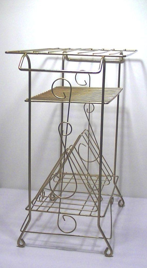Vintage Wire Stand Entertainment Furniture by Lifeinmommatone