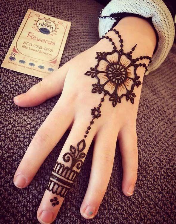 Stylish Back Hand Henna Designs Idea Trending In 2019