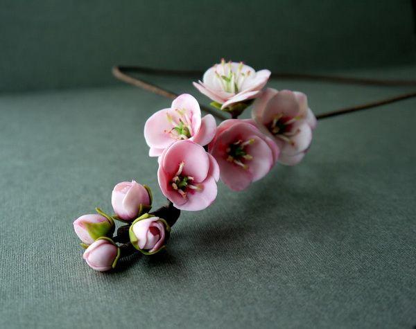 Sakura Necklace by JULIA PEKER | Polymer Clay Planet