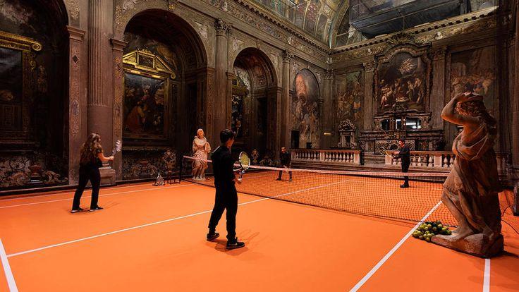 Play a game of tennis inside this 16th-century Milan church