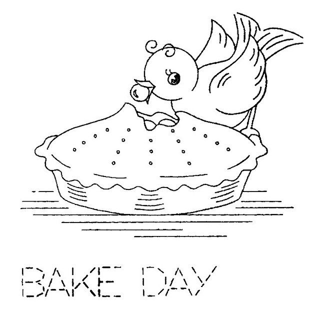 bake day embroidery pattern - Bakers Gonna Bake Kitchen Redwork Embroidery Designs