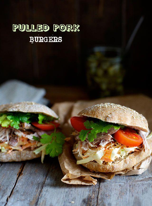 Pulled pork Burgere med coleslaw