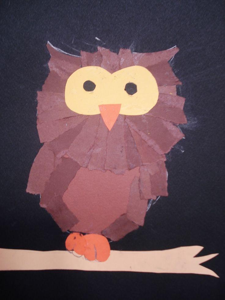 a faithful attempt: Torn Paper Owls