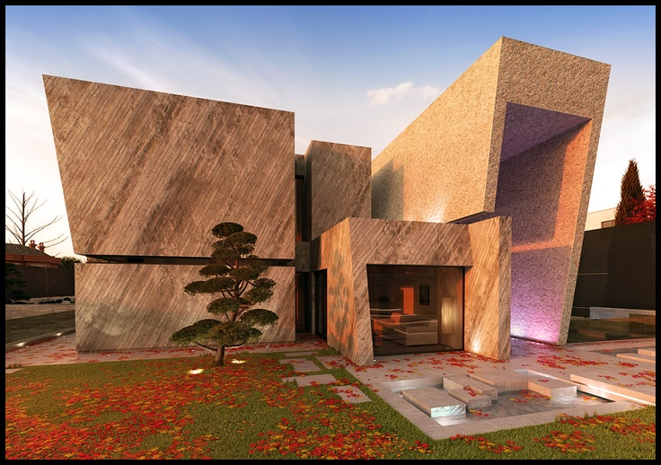Open Box House by A-Cero Architects ~DavidHier on deviantART #3D #render