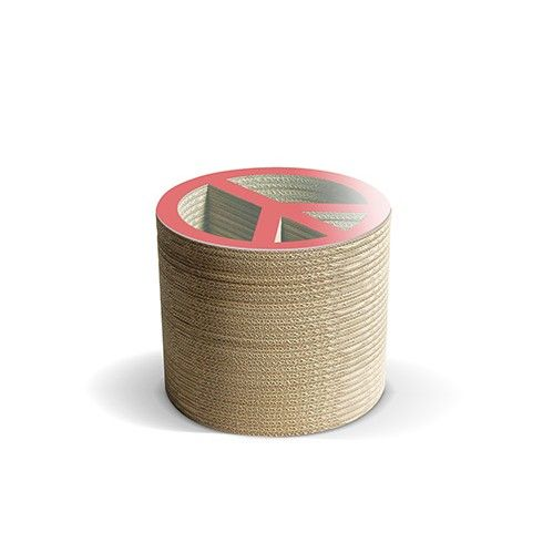 PACE R - Carton Factory Designer: Carton Factory Misure: 46 X 46 X 40h  Tavolo basso in cartone con piano superiore in vetro.   #cartonfactory #ecodesign #cardboard #design #tavolo #cartone