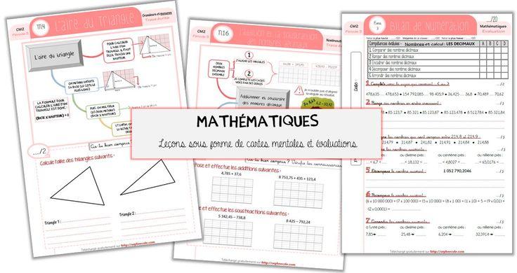 Mise à jour : Mes leçons (sous forme de carte mentale) et évaluations en français et mathématiques - Cycle 3 ~ Orphéecole