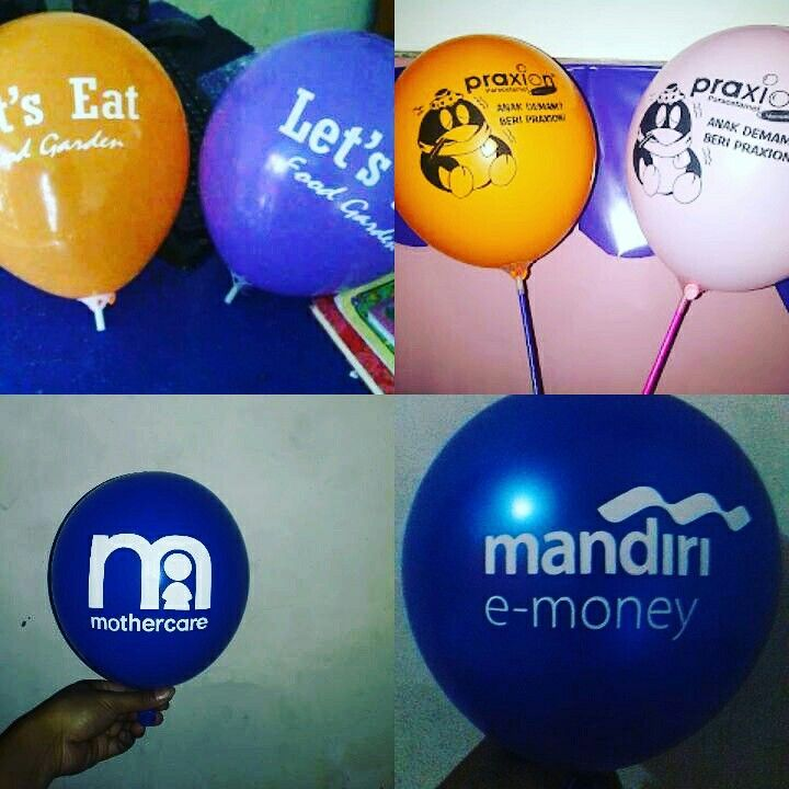 Balon print / balon sablon murah