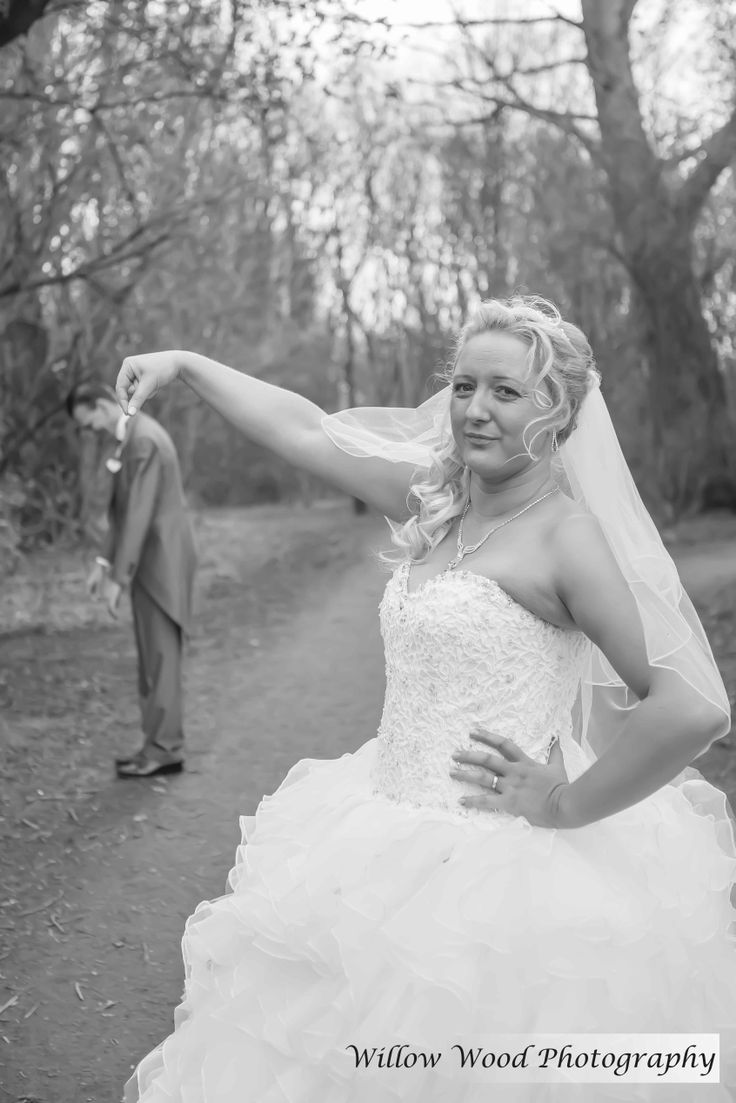 Wedding pictures with a bit of a difference