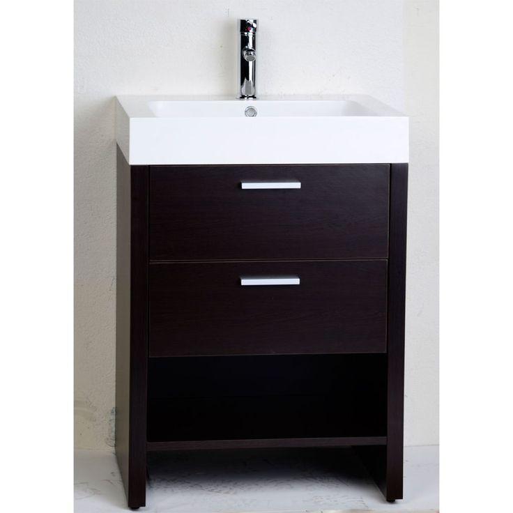 inch bathroom vanity drawers tubo slim 24 light by sonneman bath wide with sink