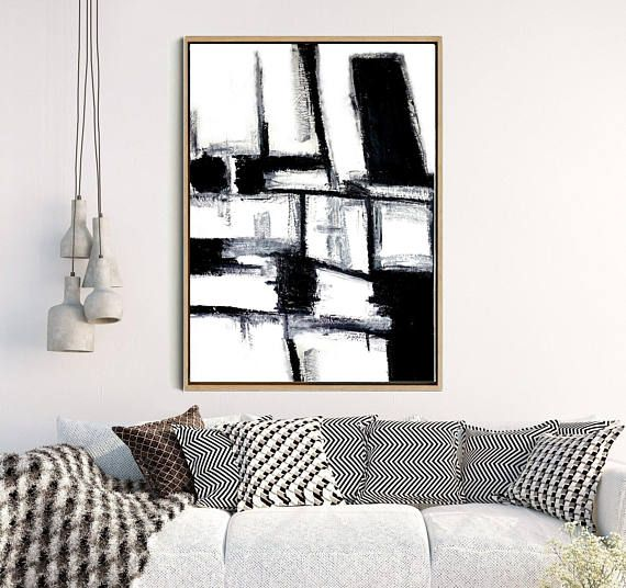 Black And White Print, Abstract Painting, Abstract Print, Black Abstract Art,  Home Decor, Wall Decor, Instant Download