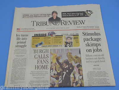 Pittsburgh Steelers Tribune Review Newspaper 1/31/09 Day Before Super Bowl XLIII #pittsburgh #steelers #pittsburghsteelers #superbowlxliii