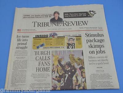 Pittsburgh Steelers Tribune Review Newspaper 1/31/09 Day Before Super Bowl XLIII #pittsburgh #steelers #pittsburghsteelers #superbowlxliii