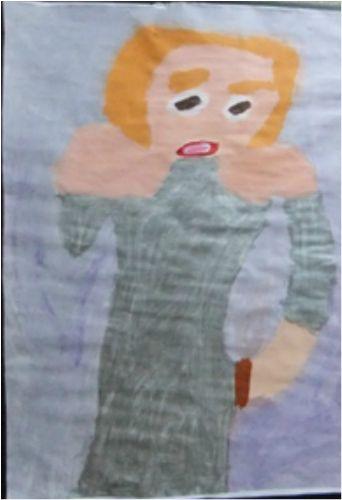 Patrick Francis - Madonna 2014, acrylic on paper, 60x80cm