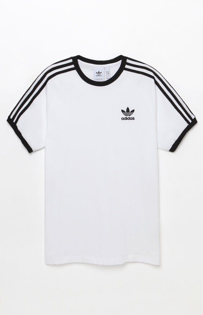 adidas 3-Stripes White and Black Ringer T-Shirt   T-Shirts - Funny ... a8cf9808b8