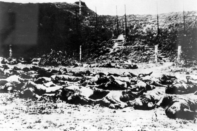 Lithuania, 1941, Bodies of Jews murdered next to the Seventh Fort.