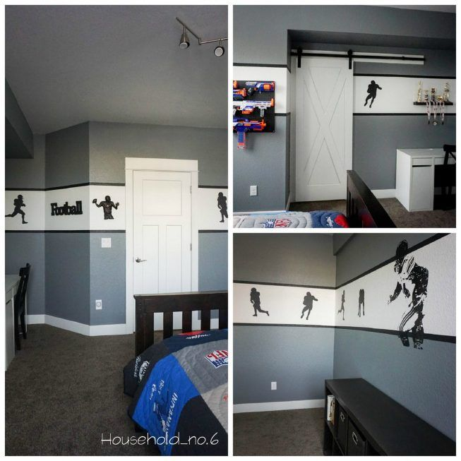 44 best boys football themed bedroom images on pinterest for Football themed bedroom ideas