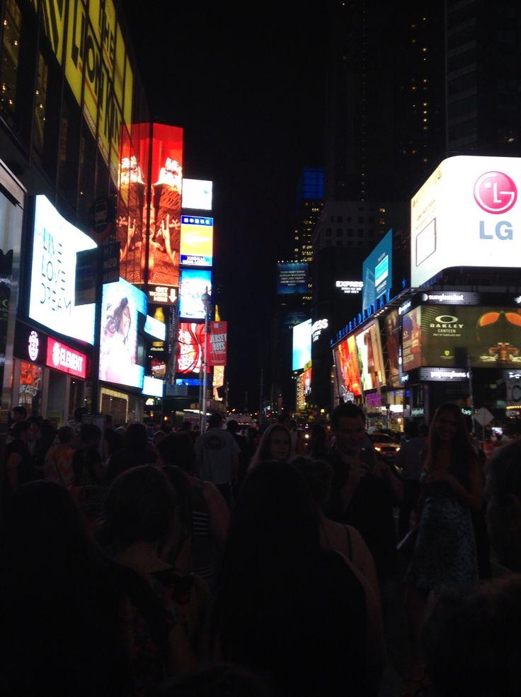 Times Square at night #NYC ©ArianeRobichaud