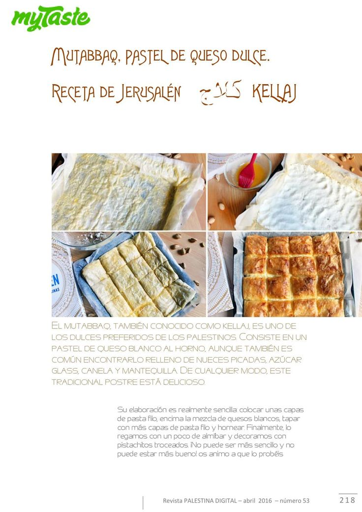 Recetas sabrosas de dulces y comidas palestinas