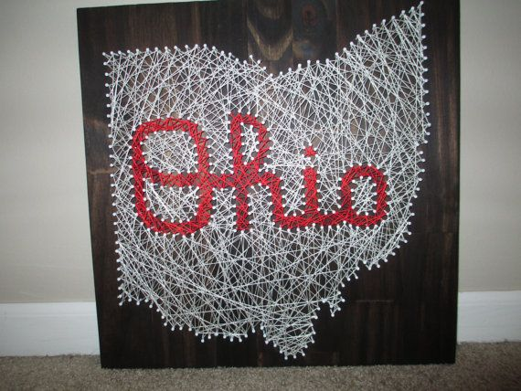 Hey, I found this really awesome Etsy listing at https://www.etsy.com/listing/174321868/string-art-state-any-state-ohio-state