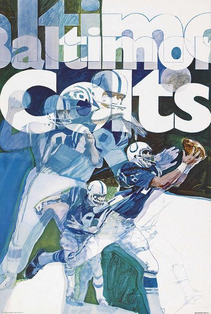 Baltimore Colts poster 1970