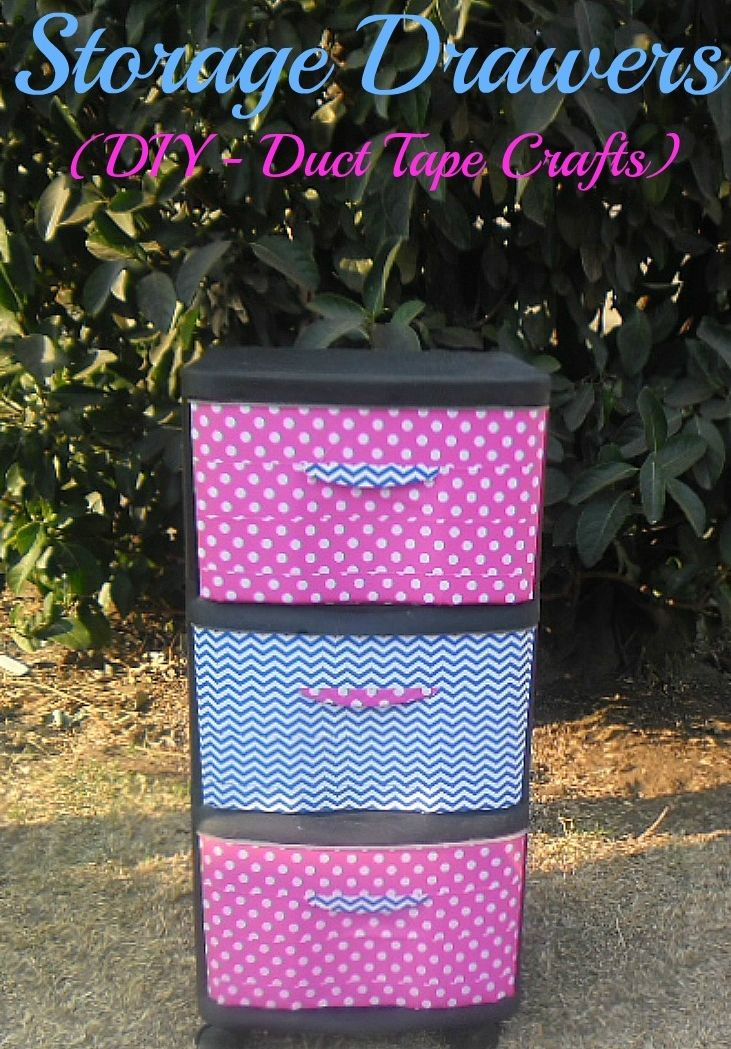 How to make cute storage drawers w/ duct tape!