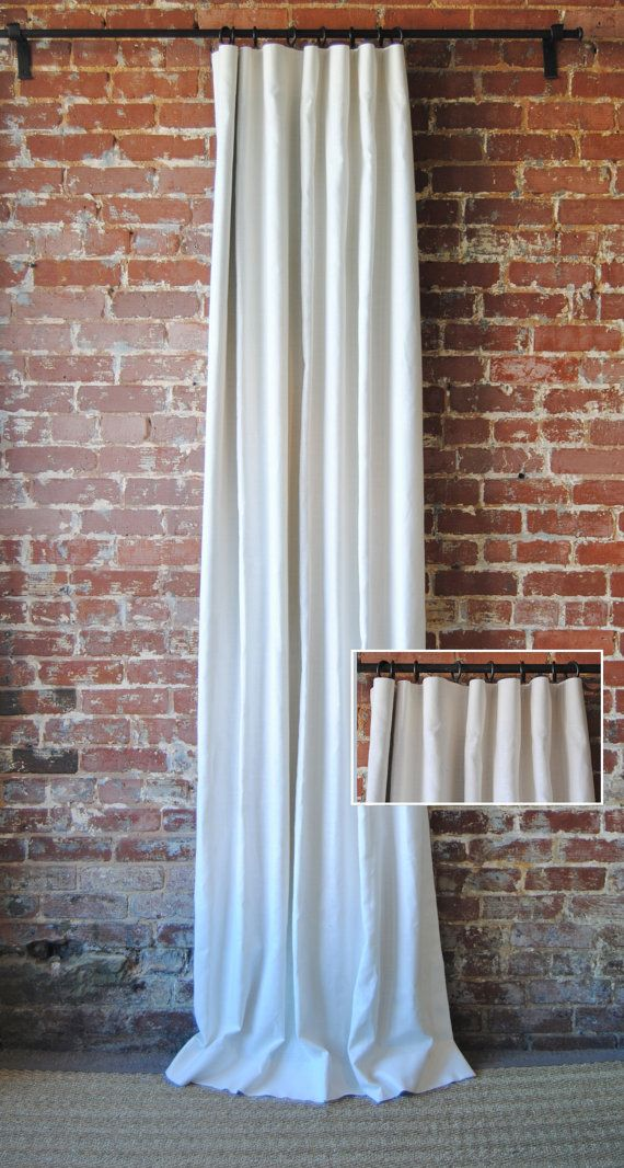 """96""""  Solid Panel With Knife Pleat - Custom Curtains - 28 Color Options - Custom Drapes"""