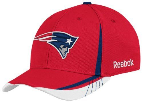 NFL New England Patriots Sideline Flex-Fit Draft Hat, Red by Reebok. $9.46. Put yourself on the roster in spirit with the Reebok® 2011 Player Draft hat. A raised team logo is embroidered on the front, while an NFL® Equipment shield adorns the back. Contrasting panels on the front and top visor add an additional pop of team color.