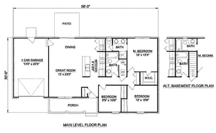27 best 1200 sq ft house plans images on pinterest for 1200 square foot bungalow floor plans