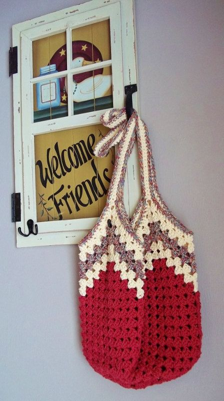 Granny Ripple Bag Crochet Pattern. Instant by TheHookHound