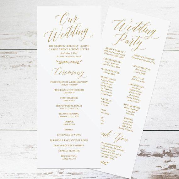 wedding program templates fan wedding programs and wedding ceremony