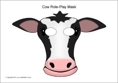 Cow role-play masks (SB9253) - SparkleBox