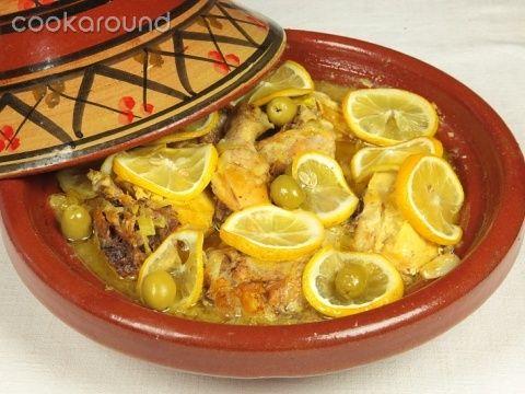 pollo m'qalli con olive e limone-marocco
