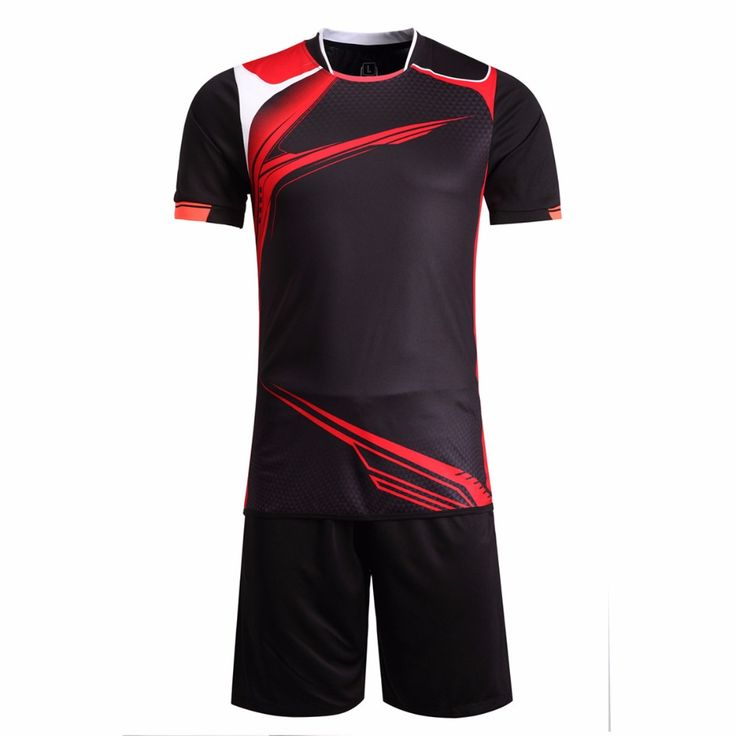 New Mens Football Jerseys Boys Paintless Black Football Training Custom Jerseys Sports Wear Breathable Soccer Jerseys M-3XL Kits