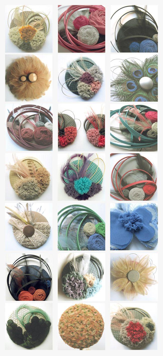 Comienza la primavera y para emes la época de hacer tocados y más tocados.. Estos son algunos de los que hicimos el año pasado...varieda...