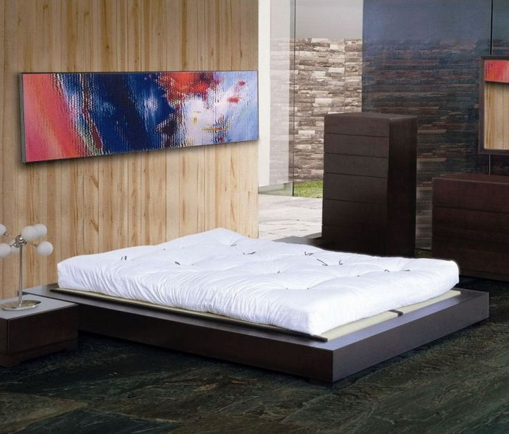 asian platform bed frame bedroom wood furniture multi size japanese style decor