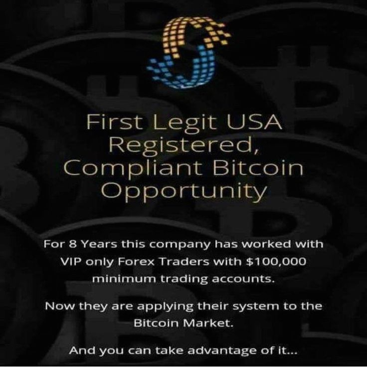 USI Tech First Registered Compliant Bitcoin Opportunity!!  Both the Forex product and Bitcoin product!  Recognized as an official network marketing company to trade in the USA, the most governed country in the world!!!   1. USI has over 140,000 members. 2. We are averaging over 2000 new members per day. 3. We are operating in 60 countries. 4. We have created 12 millionaires to date.  6. USI-TECH has sold over $320 million in BTC packages.   Get in touch on how you can get started.