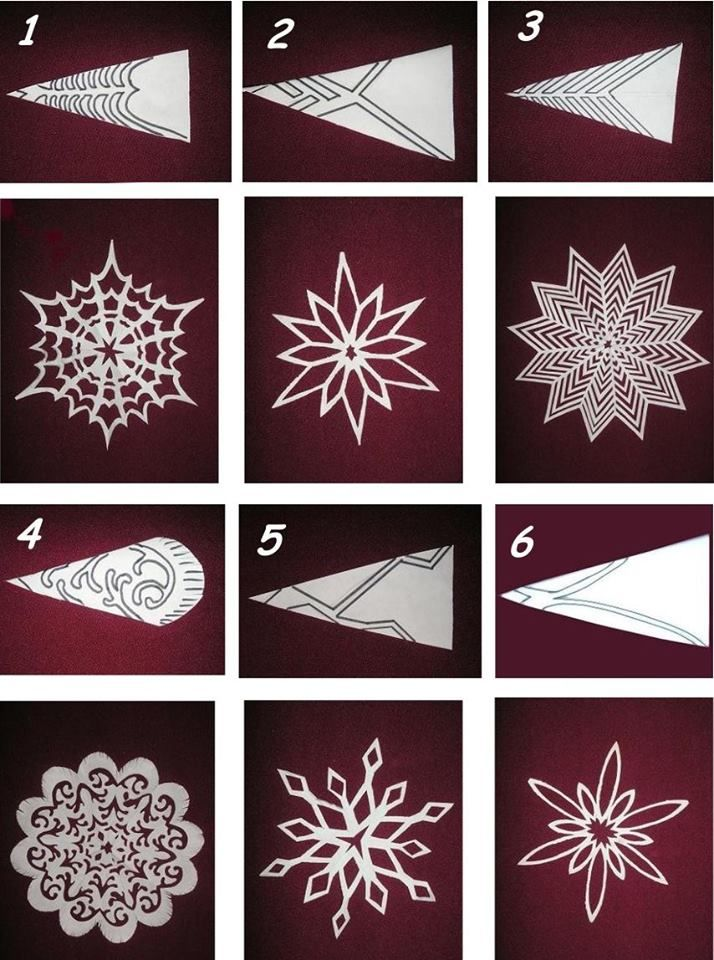 6 beautiest patterns for cutting out Christmas snowflakes — save and share with friends #handmade #art #design